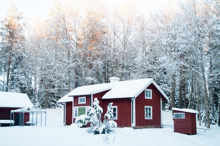Logeer in een schattige rode bungalow midden in de Zweedse natuur!