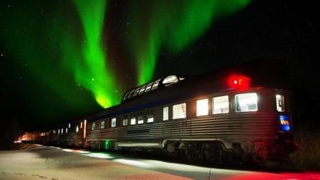 Bijzonder: in Canada zie je het noorderlicht vanuit de trein