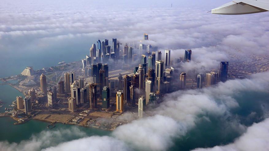 Doha in Qatar vanuit de lucht © Pixabay
