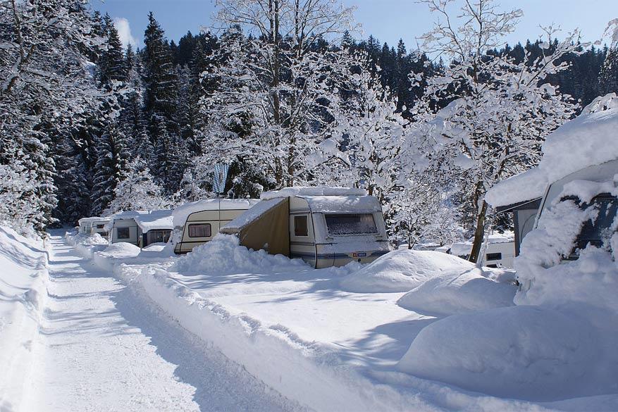 Vooral Tirol en het Zillertal zijn populaire bestemmingen voor winterkampeerders. © Camping Itter