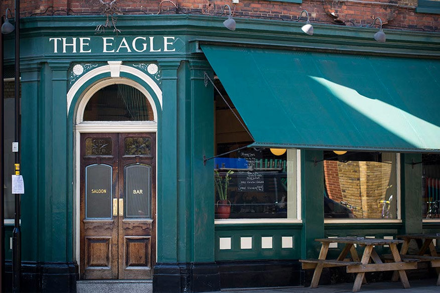 The Eagle is de eerste gastropub in Groot-Brittannië. © The Eagle