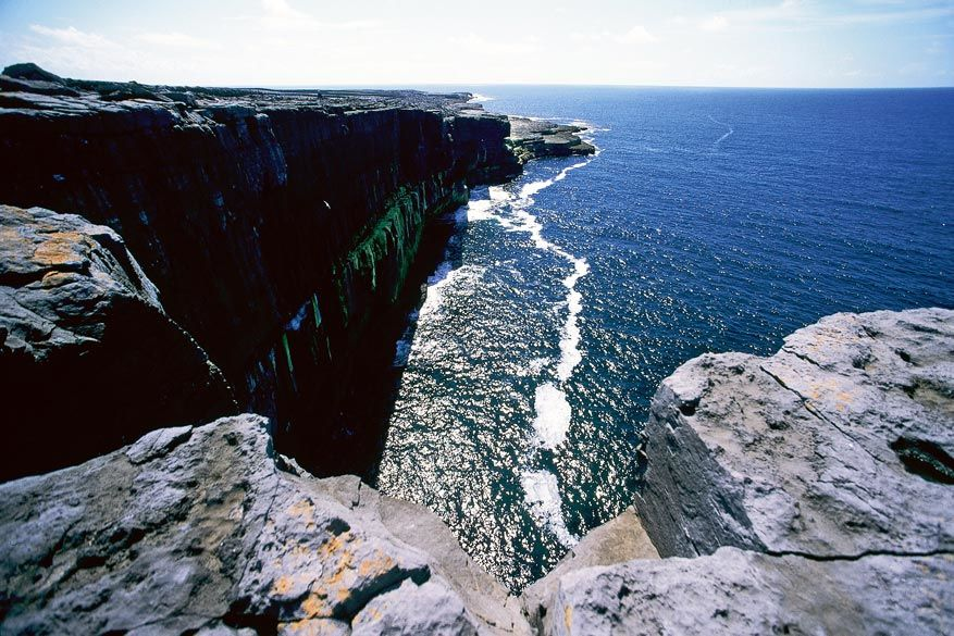 De kustlijn van Galway