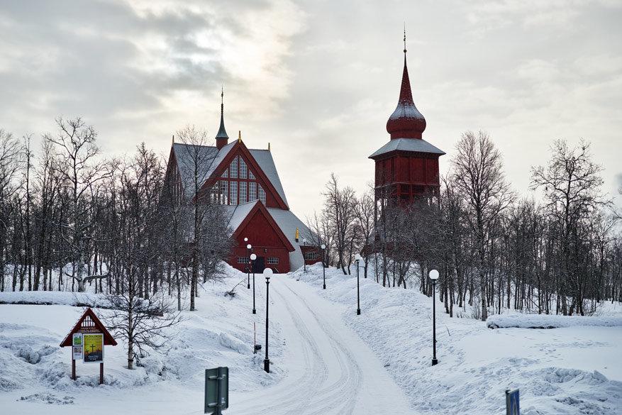 De kerk van Kiruna