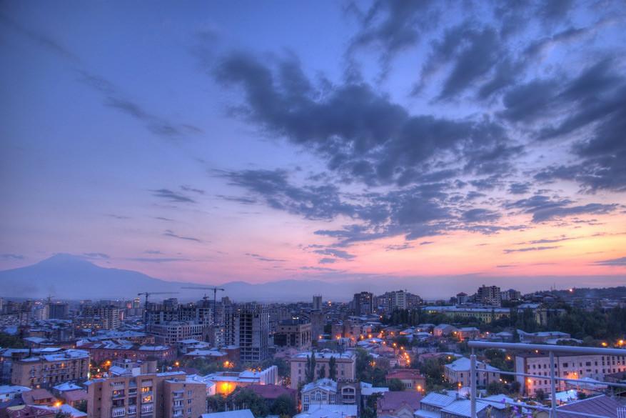 Jerevan, de hoofdstad van Armenië.