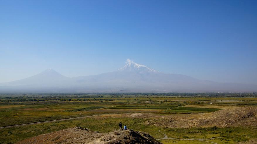 Zicht op de berg Ararat.