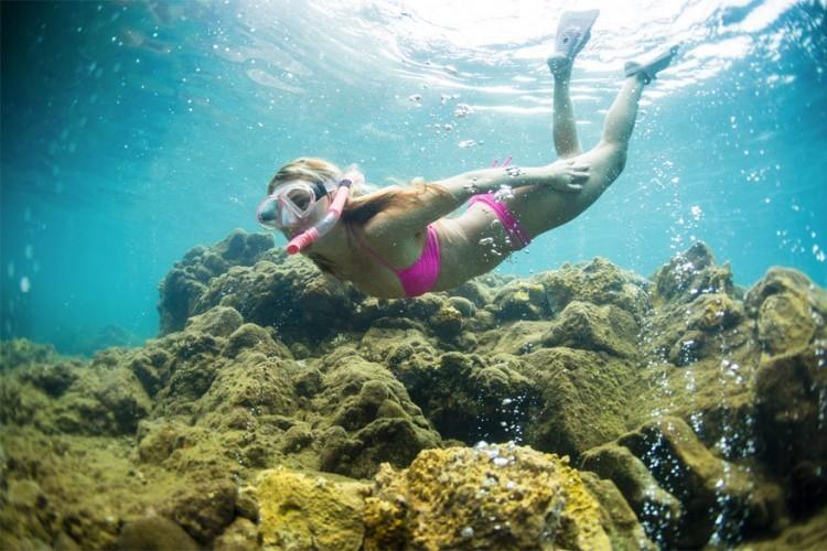 5. Snorkel eens in champagnebubbels. De onderwaterfauna en -flora in Dominica is er magisch. Hou je niet van snorkelen? Dan kan je er ook duiken, watersporten, canyoning en walvissen en dolfijnen spotten.