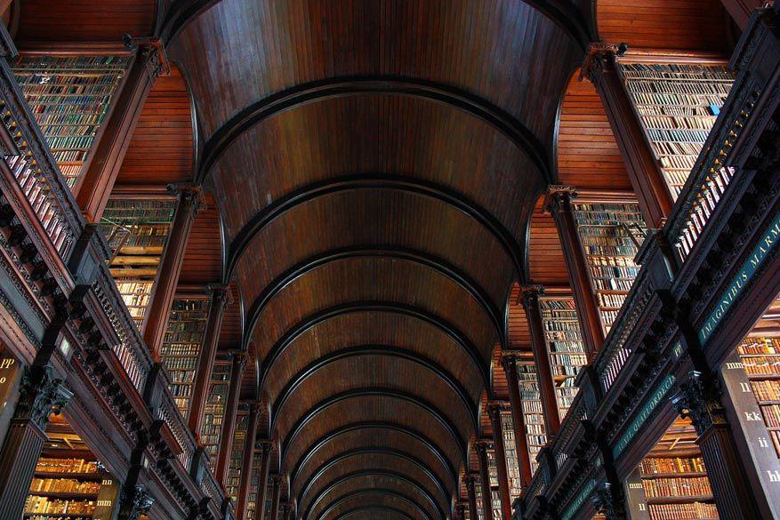 De impressionante bibliotheek van Trinity College. © Pixabay