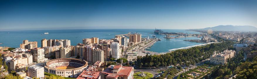 Het uitzicht op Málaga vanaf het hotel Parador de Málaga Gibralfaro © Pixabay