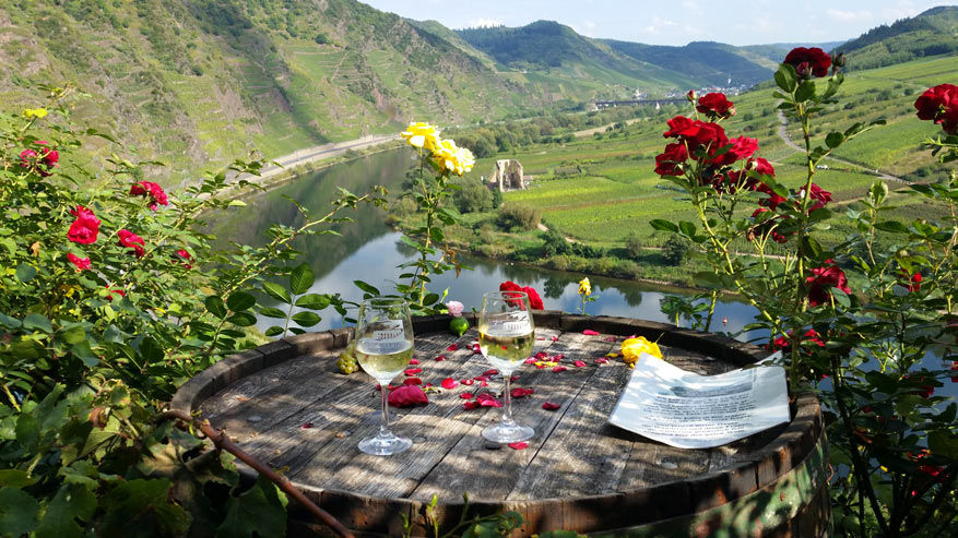 Een romantisch uitzicht op het buitenterras!