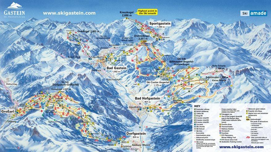 De skiregio Gastein. © Gasteinertal Tourismus