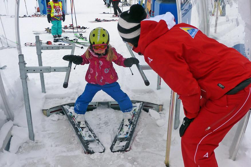 Het betere voetenwerk op de skischool! © Bruno Loockx