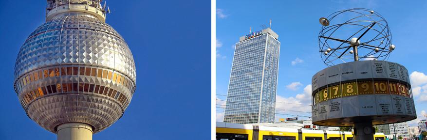 Op de Alexanderplatz staan naast de Televisietoren nog een aantal hedendaagse gebouwen.