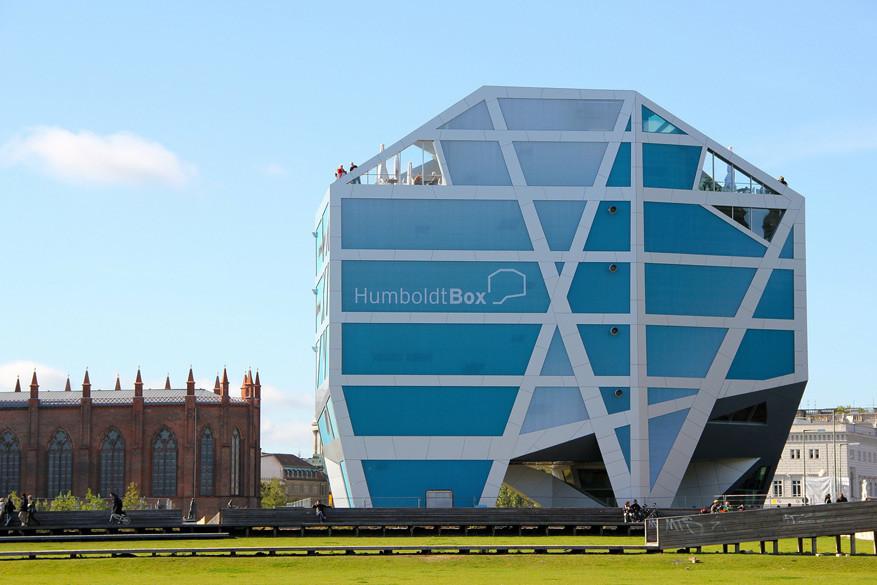 In de Humboldt-box volg je het meest prestigieuze bouwproject van Berlijn op.
