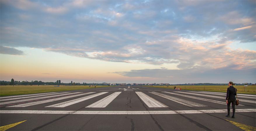Tempelhoferpark: wanneer een luchthaven een stadspark wordt. © Wikimedia Commons