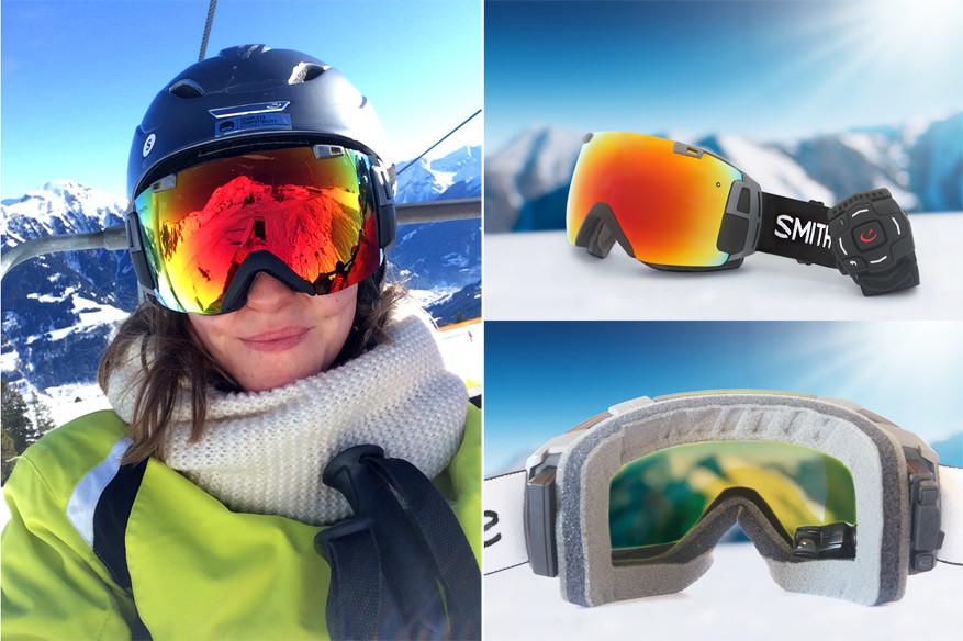 De data-skibril ziet er gigantisch uit, maar zit zo comfortabel als een gewone skibril. © Kiënta Martens | © Ski amadé Tourismus