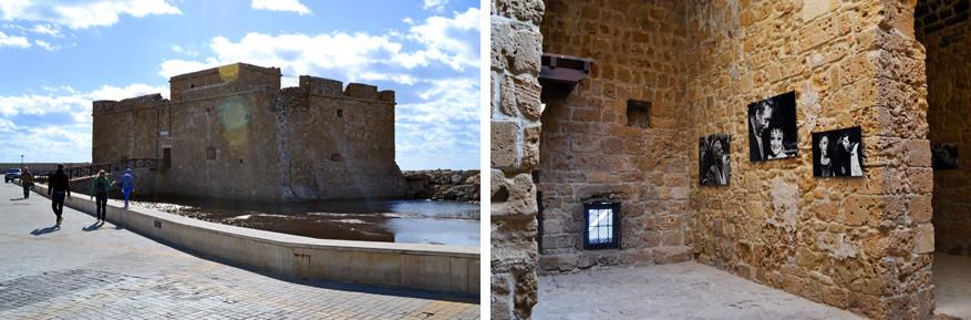 Bezienswaardigheden worden omgedoopt tot expositieruimten. Hier het middeleeuws fort van Pafos.