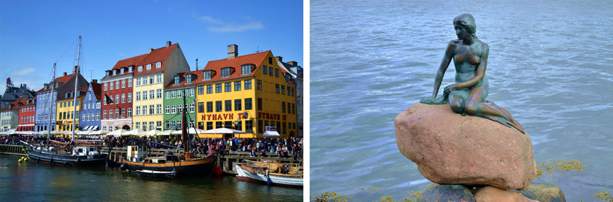 Nyhavn en De Kleine Zeemeermin, onmisbare bezienswaardigheden in Kopenhagen.
