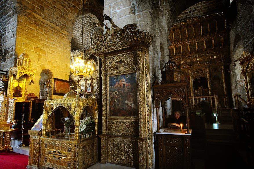 De binnenkant van de kerk verbijstert met gedetailleerde iconen. © St. Gerardi / Cyprus Tourism Organisation