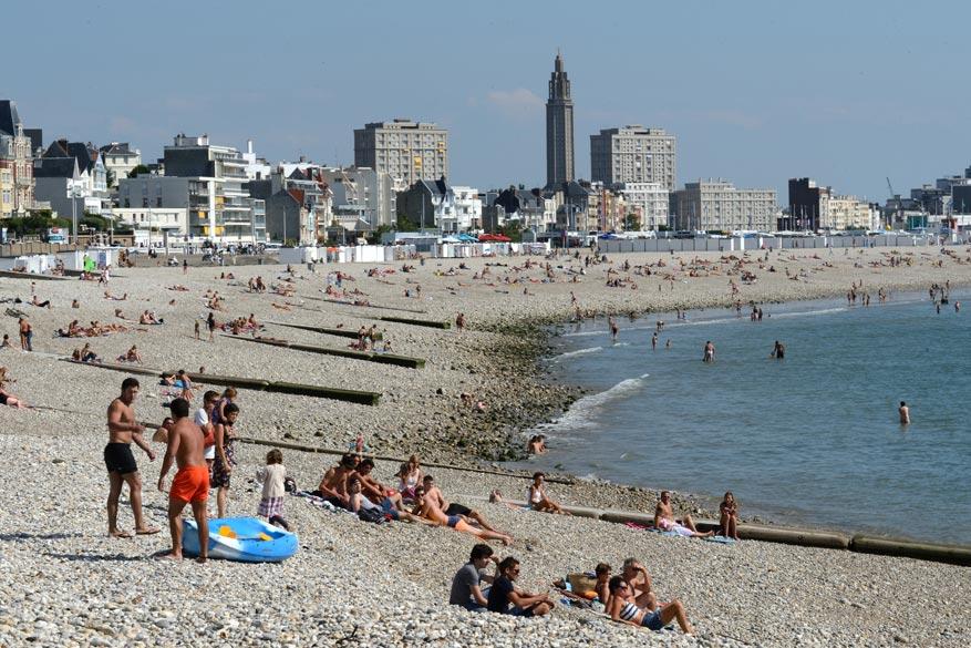 Het strand van Le Havre. © Patrick Boulen