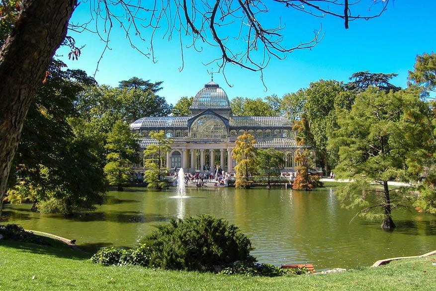 Parque del Buen Retiro met het Palacio de Cristal. © Pixabay