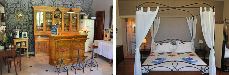Verzorgde kamers en huiselijke charme biedt B&B Les Mirandes