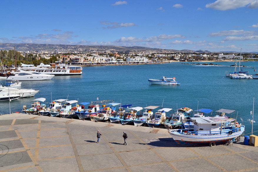 De haven van Pafos.