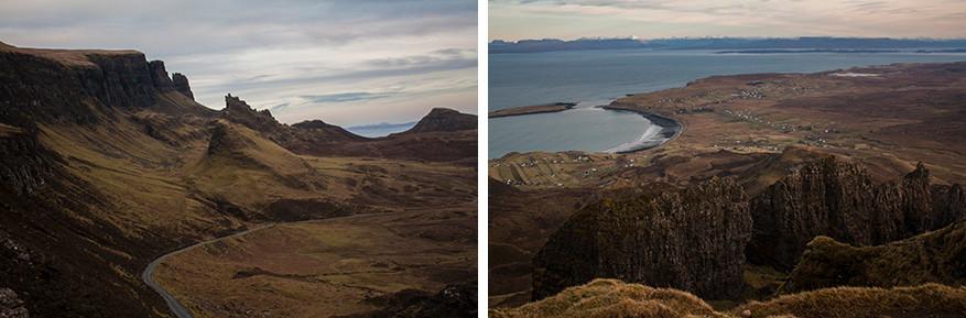Quiraing leidt je naar hoogtes en laagtes met geweldige panorama's
