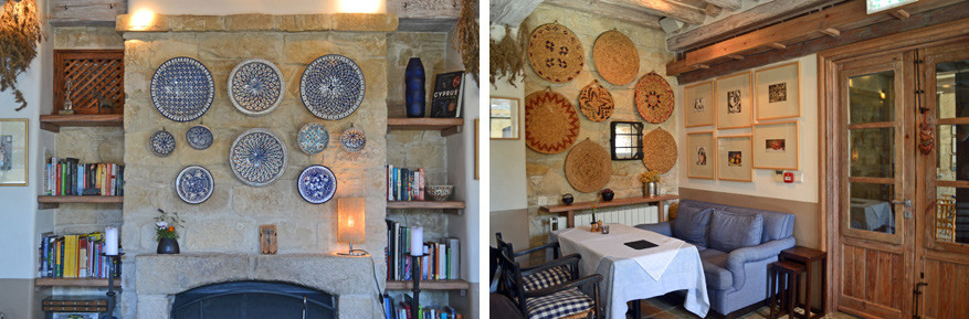 De keuken van het restaurant Agrino met een huiselijk ingerichte zithoek.