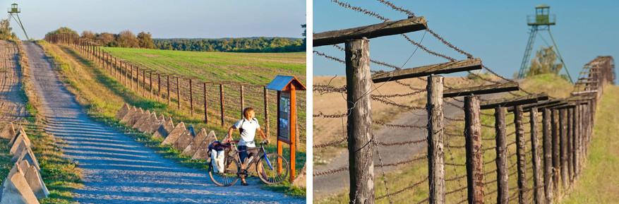 De IJzeren Gordijn route leidt je langs prikkeldraad en wachttorens.