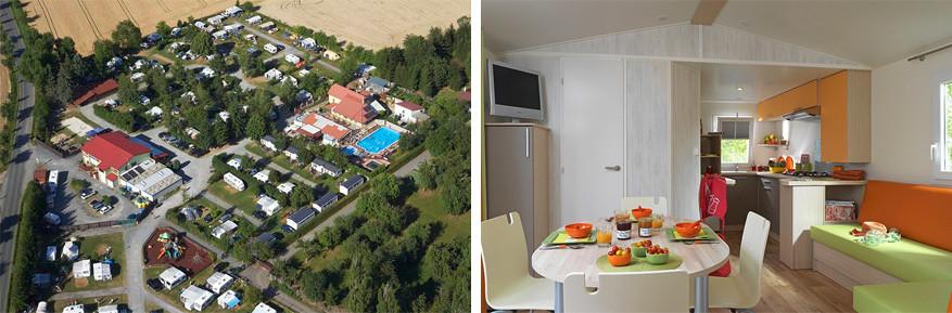 Oase is een grote camping dicht bij Praag met luxe stacaravans. © camping Oase