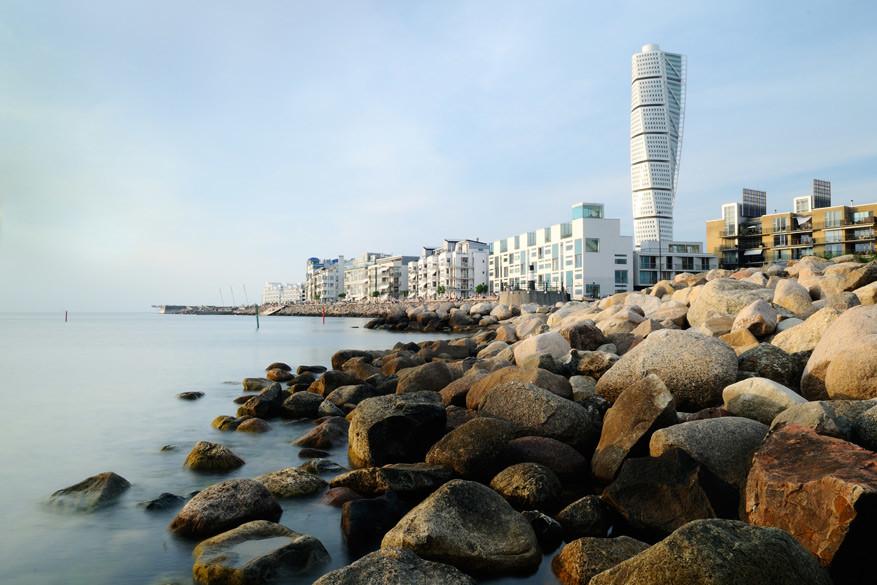 Het westelijk havengebied met de Turning Torso. © Justin Brown / Visit Sweden