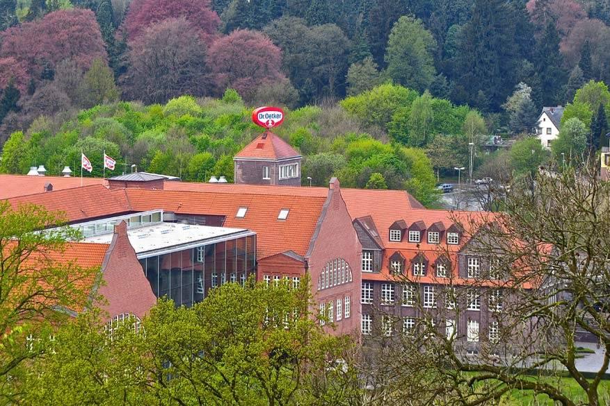 In Bielefeld komt je ongetwijfeld Dr. Oetker tegen. © Steven Loockx