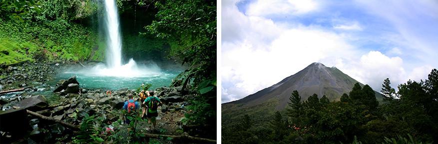 La Fortuna staat voor actieve vulkanen, hotsprings en denderende watervallen.