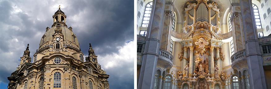 Pracht en praal in de Frauenkirche, het stokpaardje van Dresden. © Pixabay
