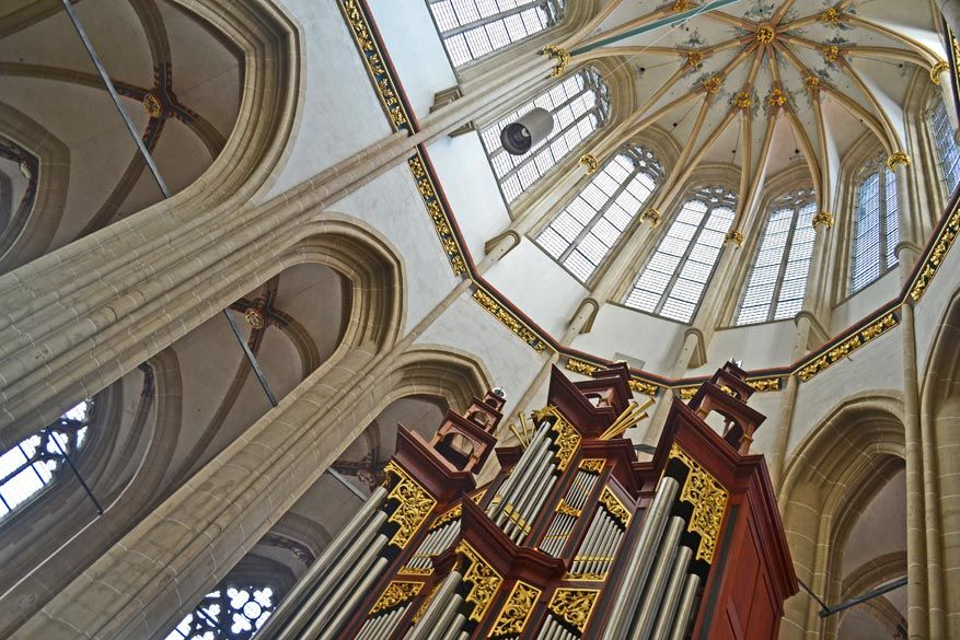 Vooral de orgel in de Bovenkerk van Kampen is het bekijken waard.