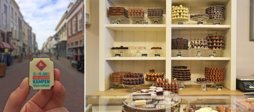 1. Chocolaterie De Swaen: een gezellig winkeltje waar je chocolade en bonbons in alle vormen en kleuren vindt. Naar aanleiding van de Internationale Hanzedagen 2017 ontwierpen ze zelfs een unieke praline.