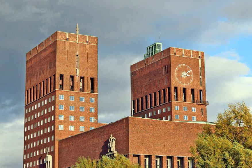 Het stadhuis van Oslo.