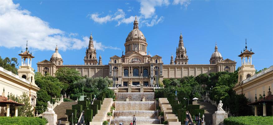 Het Museu Nacional d'Art de Catalunya op de Montjuïc. © Wikimedia Commons