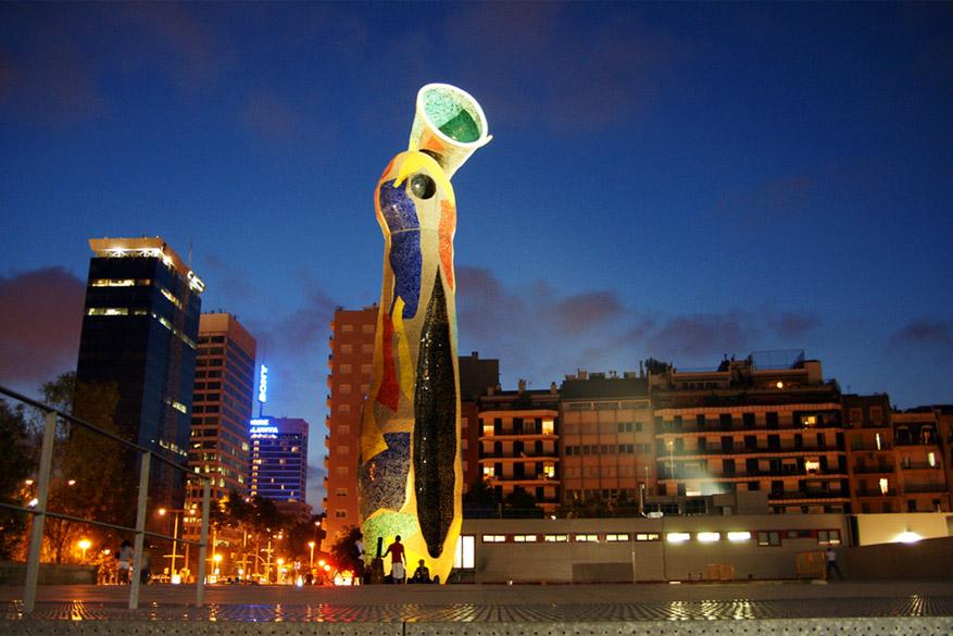Spot een echte Miró in het gelijknamige park. © jaime.silva via Flickr Creative Commons