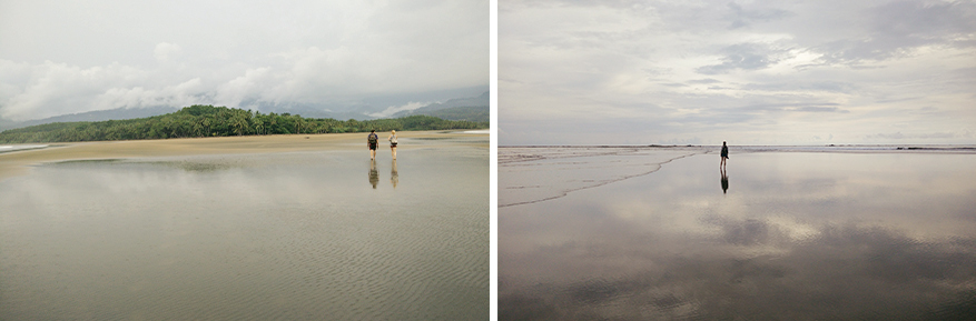 Lopen op de eindeloze zandbank van Playa Uvita is het beste gevoel ooit.