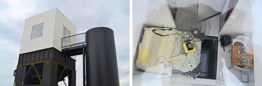 Origineel logeren in het Havenkwartier van Deventer: op een silo in de Lucy Cube!