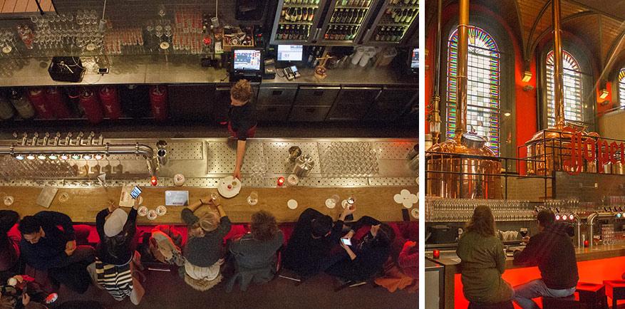 De distillatieconstructie staat centraal in de Jopenkerk.