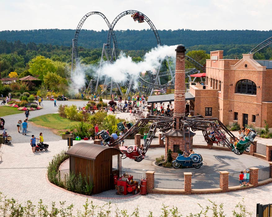 Leef je helemaal uit in avonturenpark Tripsdrill! © Erlebnispark Tripsdrill
