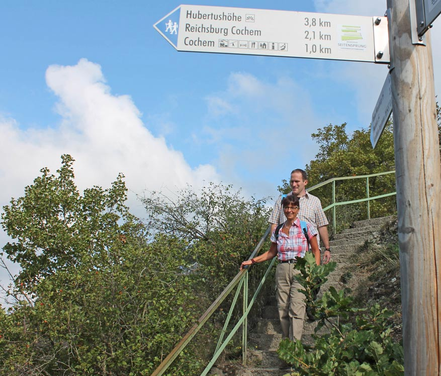 De nieuwe wandelroute Cochemer Ritterrunde laat je in 16 km enkele hoogtepunten in Cochem zien. © Toeristische Dienst Cochem