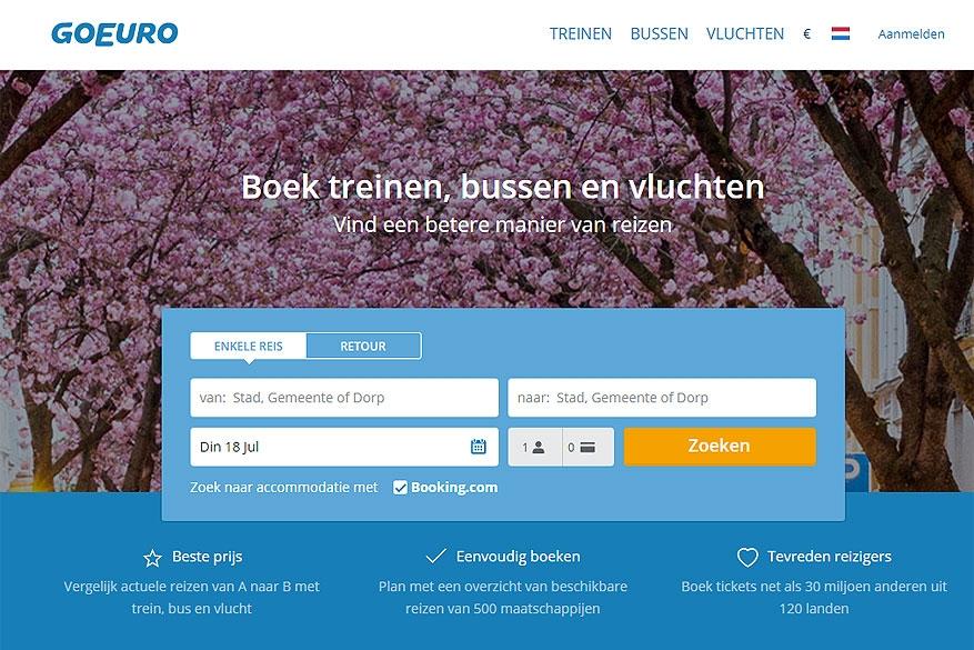 Goedkoper en eenvoudiger door Europa met GoEuro