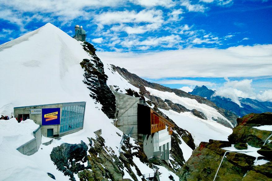 Station op de Jungfraujoch