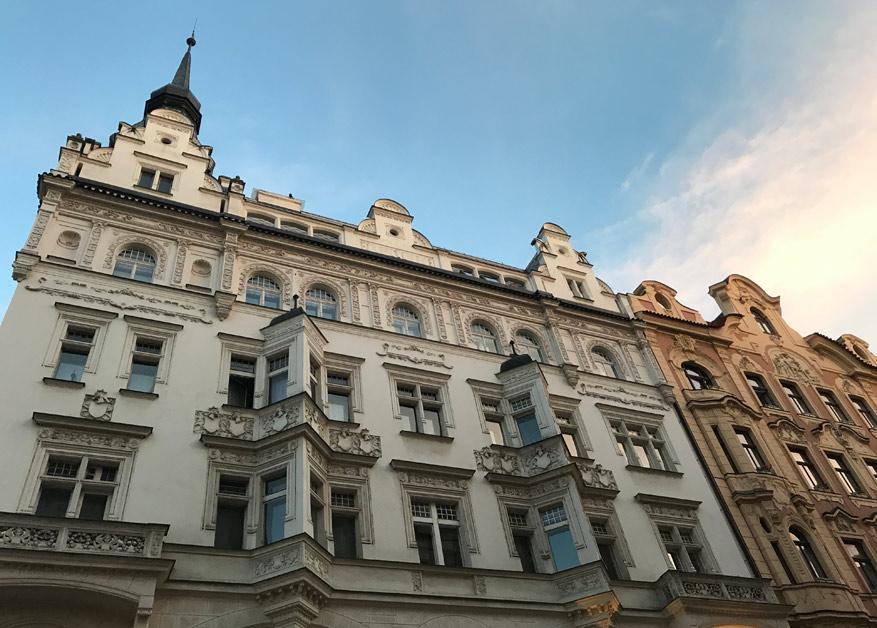 Prachtige architectuur in de Joodse wijk.
