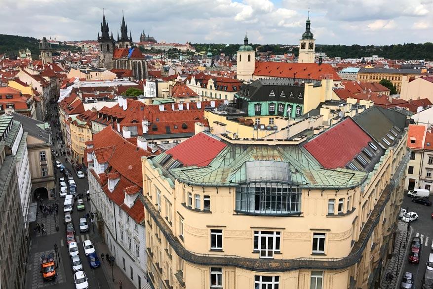 Het uitzicht op de oude stad vanaf de Kruittoren.