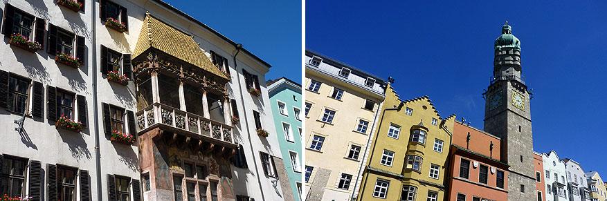 Het beroemde 'Gouden dak' en de Stadstoren