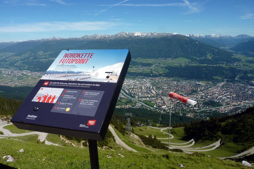 Zicht op Innsbruck vanaf de Nordkette